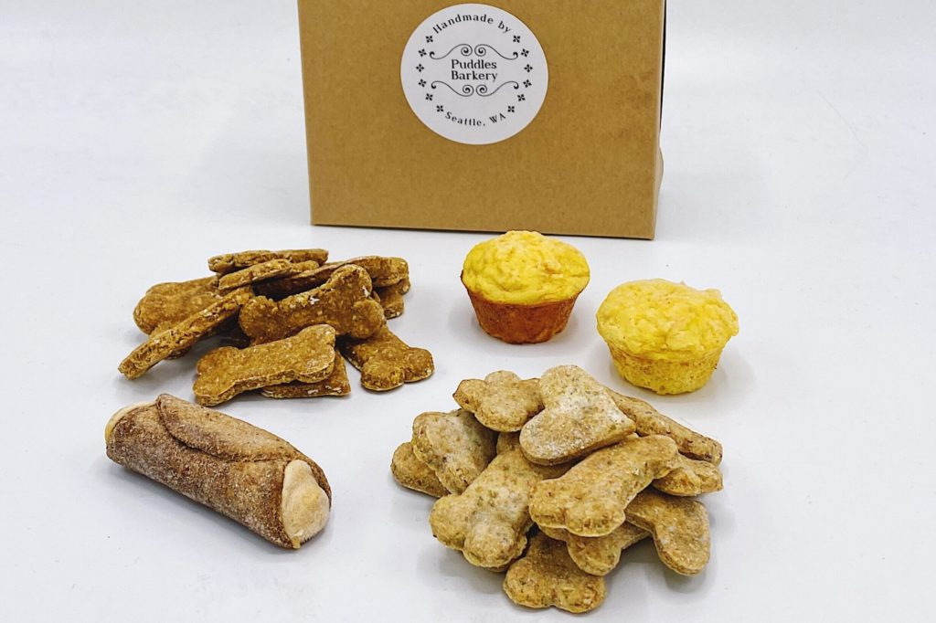 treats from Seattle dog bakery Puddles